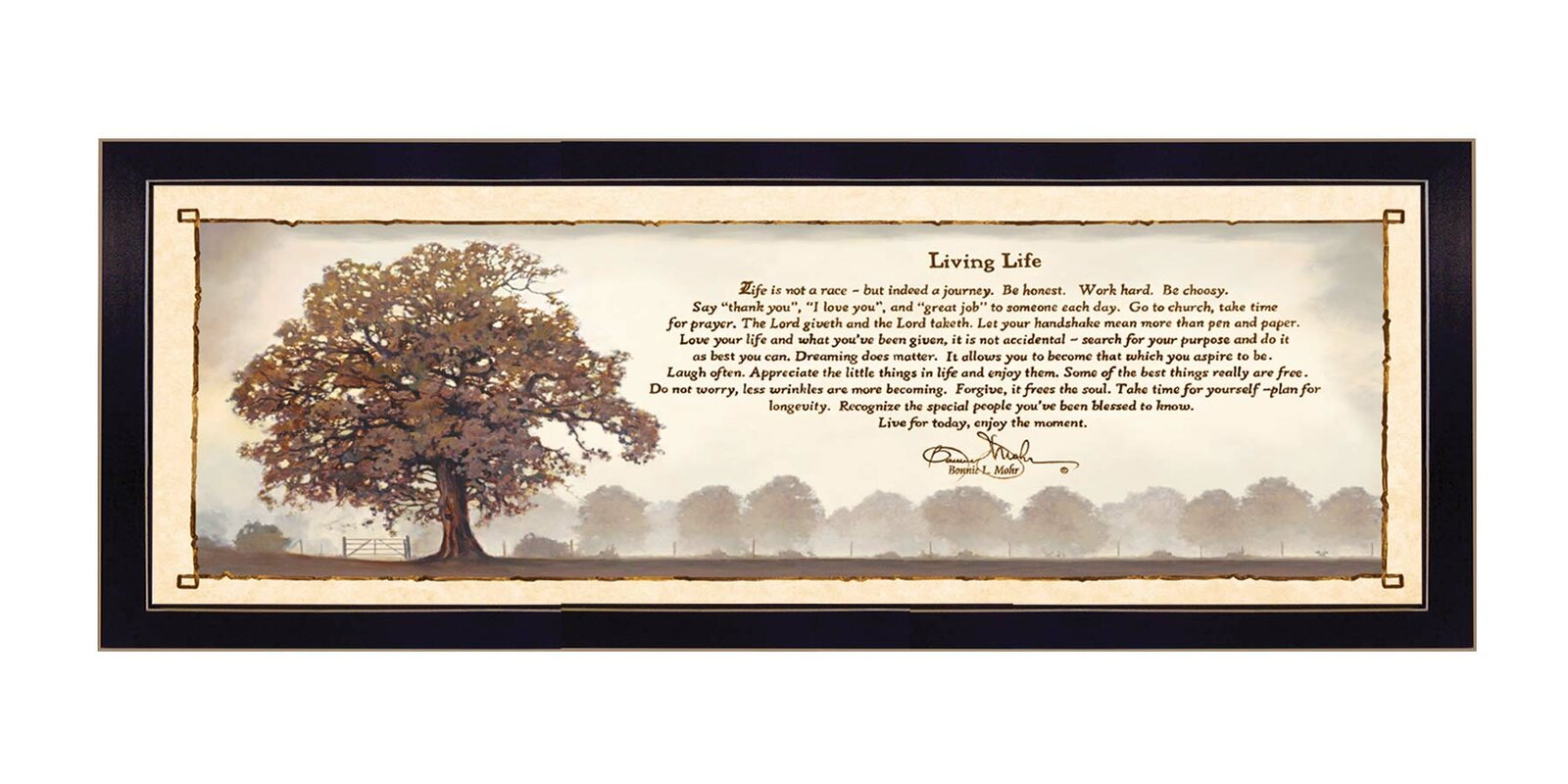 Bonnie Mohr Living Life Quote Trendy Decor 4U 'living Life' Framed Textual Art & Reviews  Wayfair