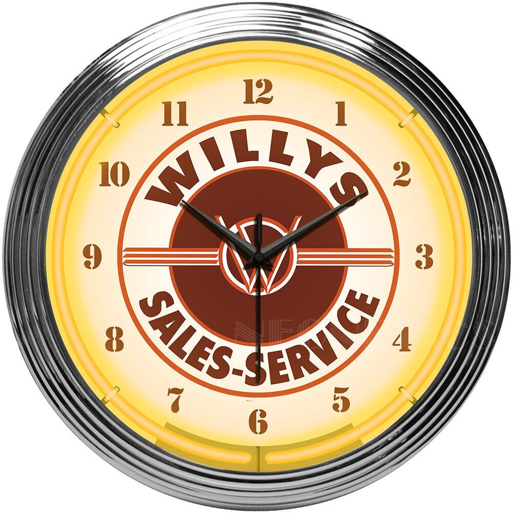 Neonetics Willys Sales Service Jeep Neon Clock | Wayfair