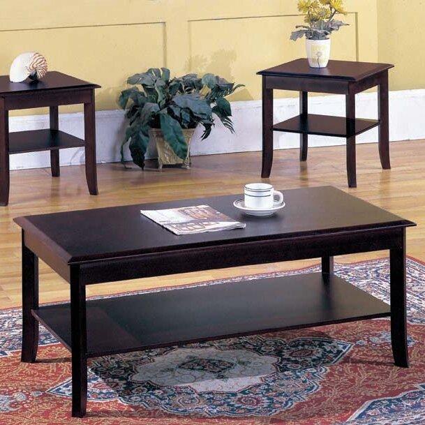 merlot coffee table andover mills jessica 3 piece coffee table set reviews wayfair