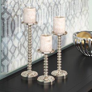 3 Piece Candlestick Set