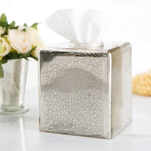 Mercury Glass Vanity Tissue Box Cover