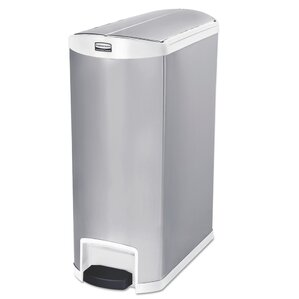 slim jim container 24 gallon step on trash can