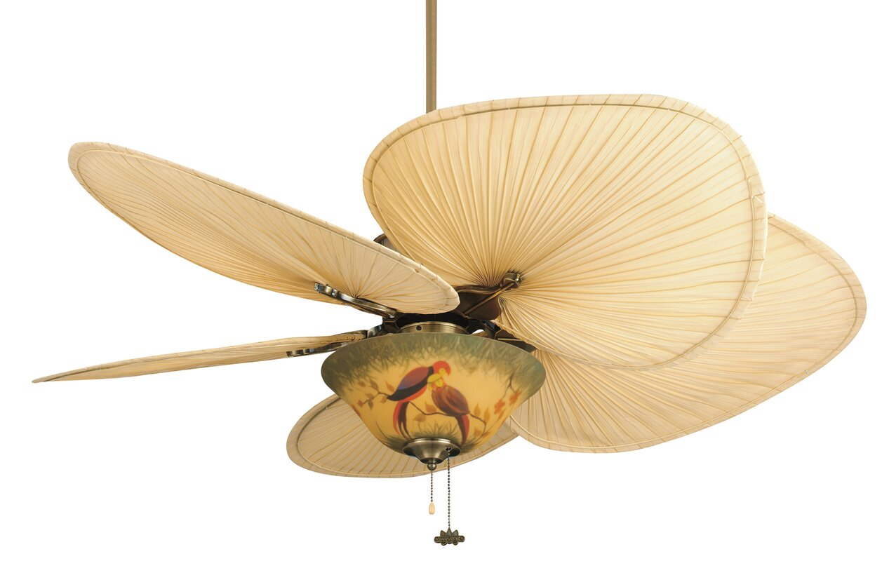 Fanimation 52 islander 5 palm blade ceiling fan reviews wayfair 52 islander 5 palm blade ceiling fan aloadofball Choice Image