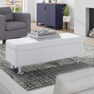 Super White Fuzzy Storage Ottoman Wayfair Onthecornerstone Fun Painted Chair Ideas Images Onthecornerstoneorg