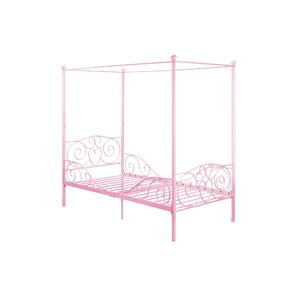 Brandon Twin Canopy Bed by Zoomie Kids