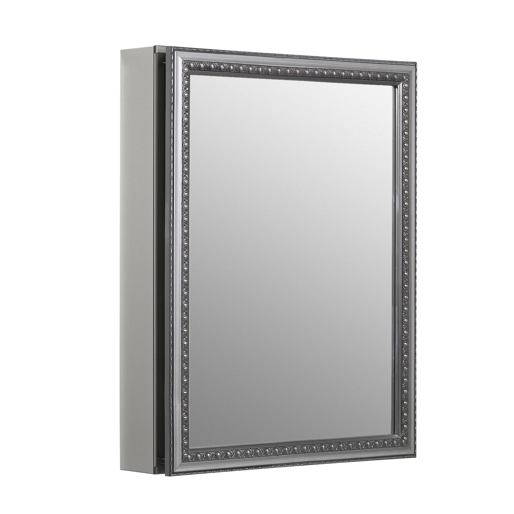 K Cb Clw2026ss Kohler 20 X 26 Recessed Or Surface Mount Framed Medicine Cabinet With 2 Adjule Shelves Reviews Wayfair