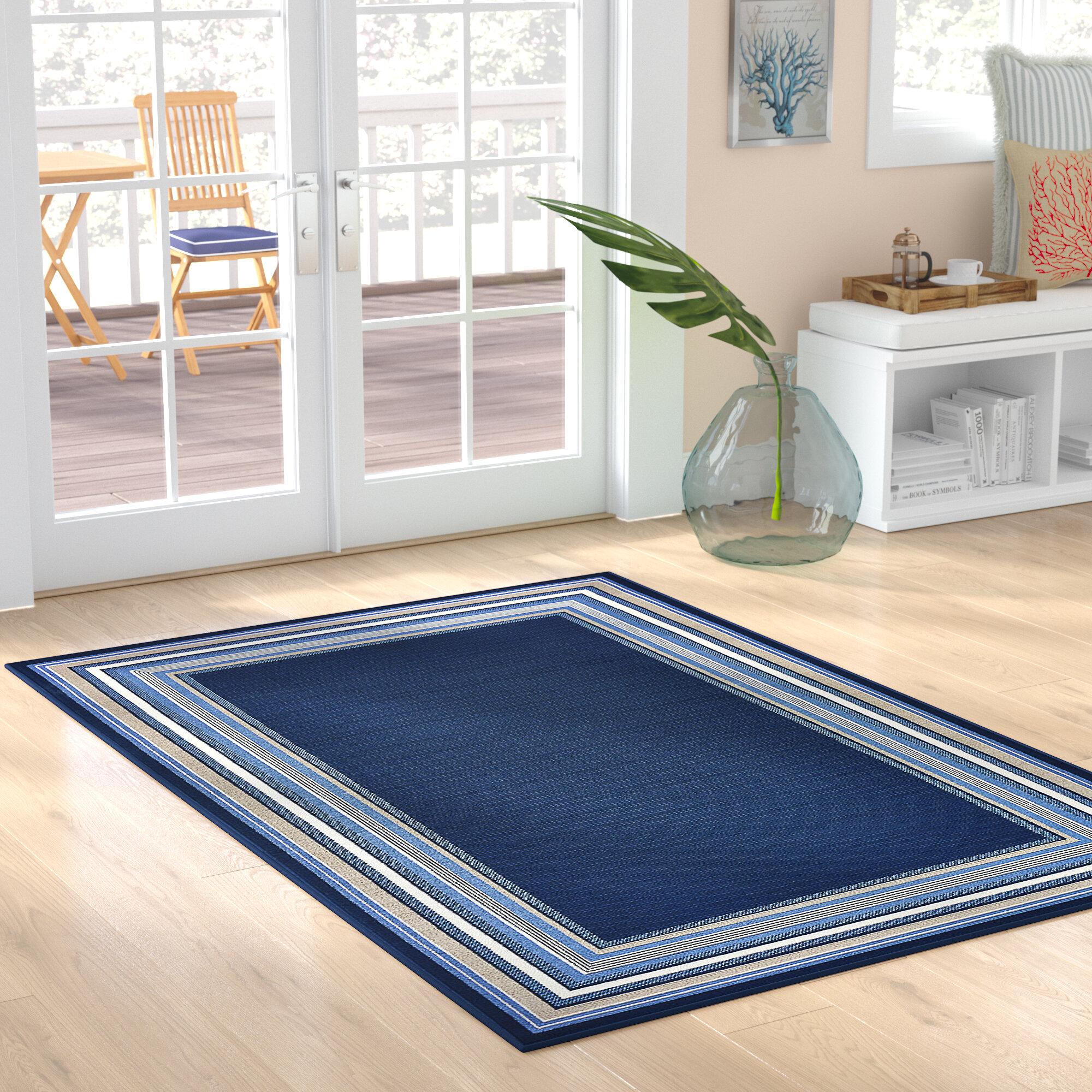 Hadiya Navy Blue Indoor Outdoor Area Rug Reviews Birch Lane