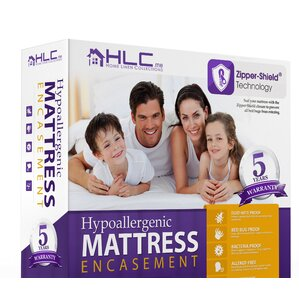 Bed Bug Proof Encasement Hypoallergenic Waterproof Mattress Protector by HLC.ME