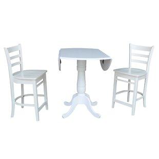 Sakamoto 3 Piece Pub Table Set