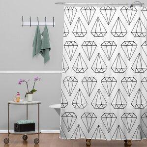 Wesley Bird Diamond Print Shower Curtain