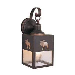 Josefina 1-Light Beveled Glass Shaded Outdoor Wall Lantern
