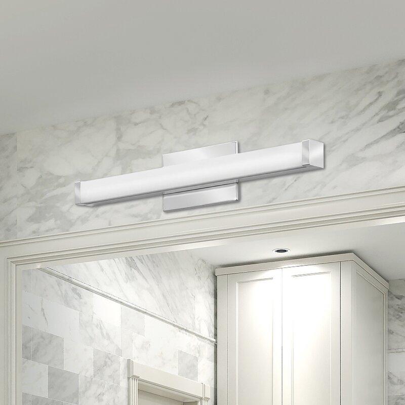 Bathroom Lighting At Wayfair lithonia lighting traditional 3-light led bath bar & reviews | wayfair