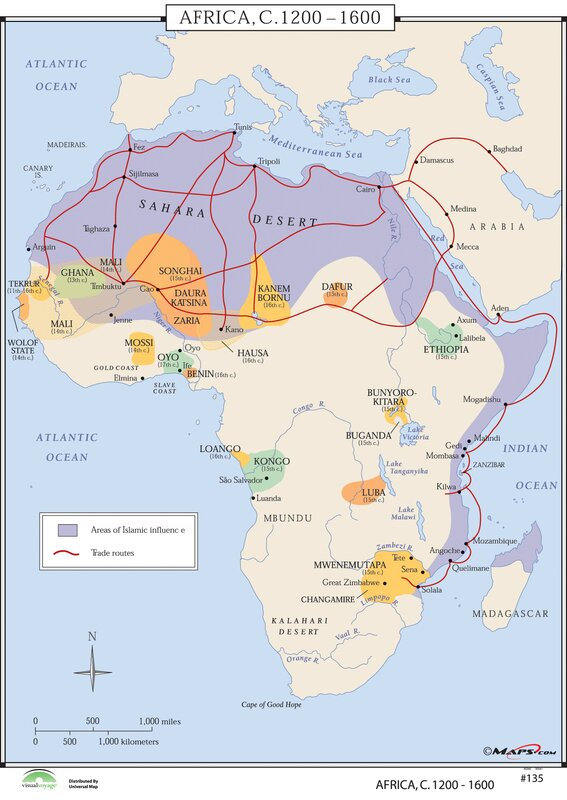 africa map world history