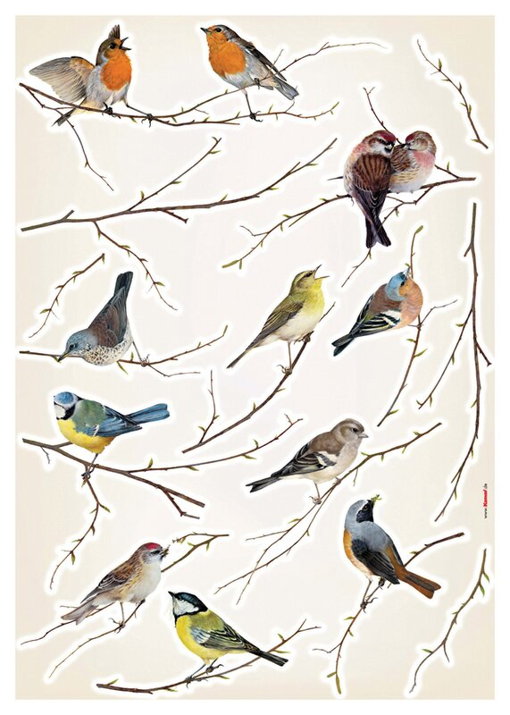 August Grove Erie Living Birds Wall Decal Reviews Wayfair - Invisible window decals for birds