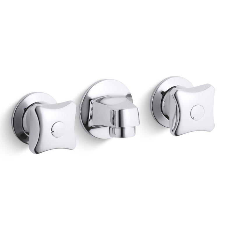 Commercial Bathroom Faucets kohler triton shelf-back commercial bathroom sink faucet with grid