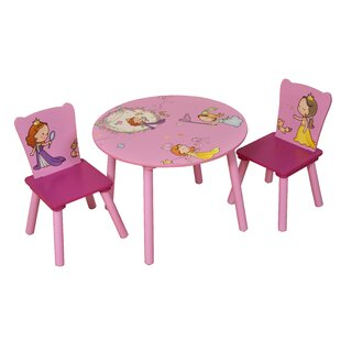 Princess Children's 3 Piece Round Table and Chair Set by Liberty House Toys