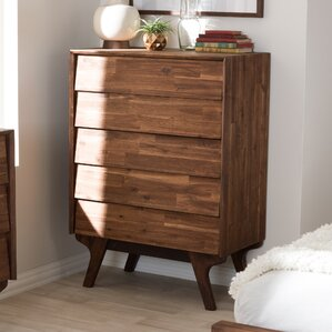 Tion Wood 5 Drawer Chest by Union Rustic