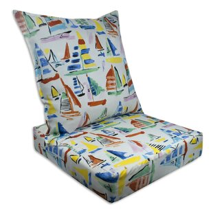 Sailboat Outdoor/Indoor Replacement Cushion Set (Set Of 2)