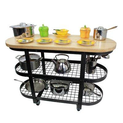 premier kitchen cart with butcher block top - Butcher Block Kitchen Cart