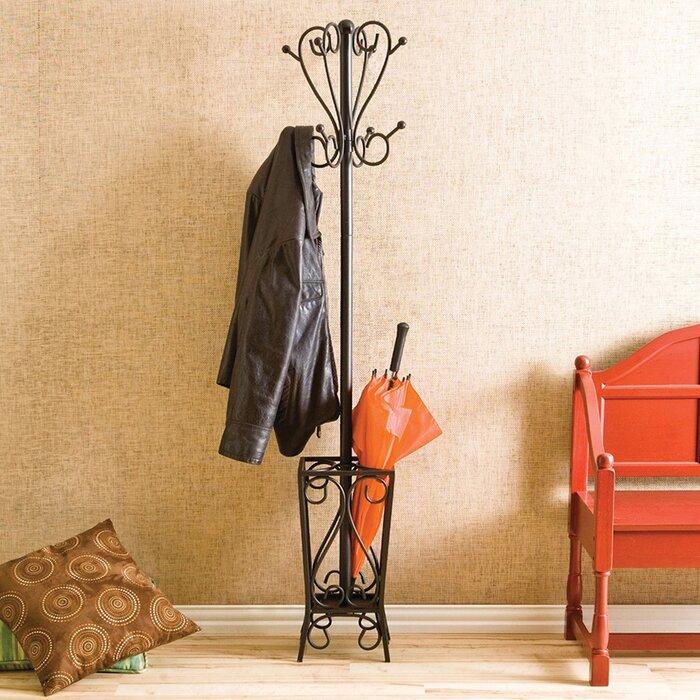 Duhon Metal Coat Rack With Umbrella Stand