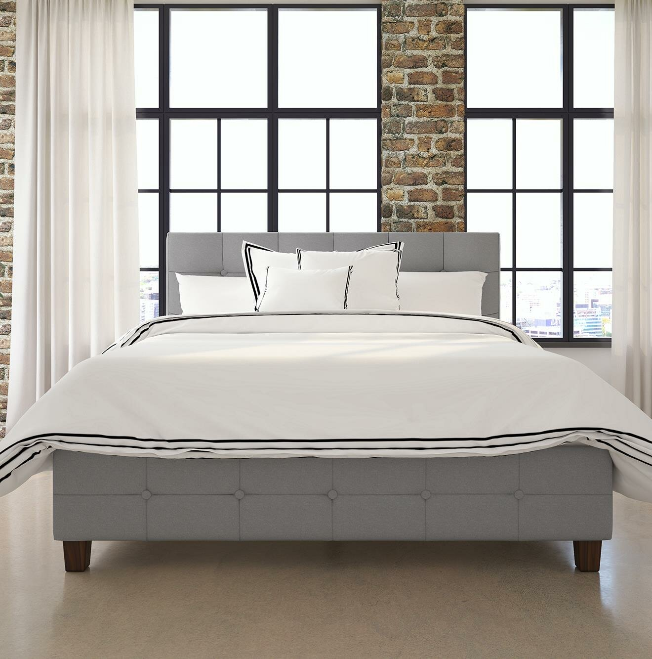 Andover Mills Amherst Upholstered Platform Bed & Reviews | Wayfair