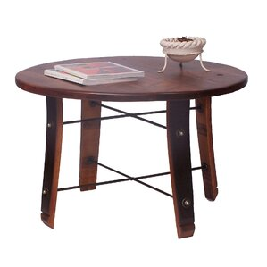 Round Stave Coffee Table by 2 Day Designs, Inc