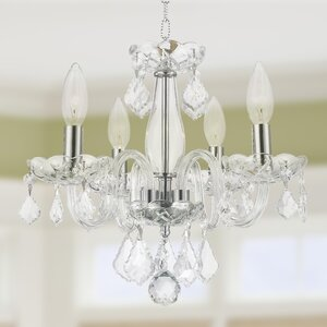 Yvette 4-Light Semi Flush Mount