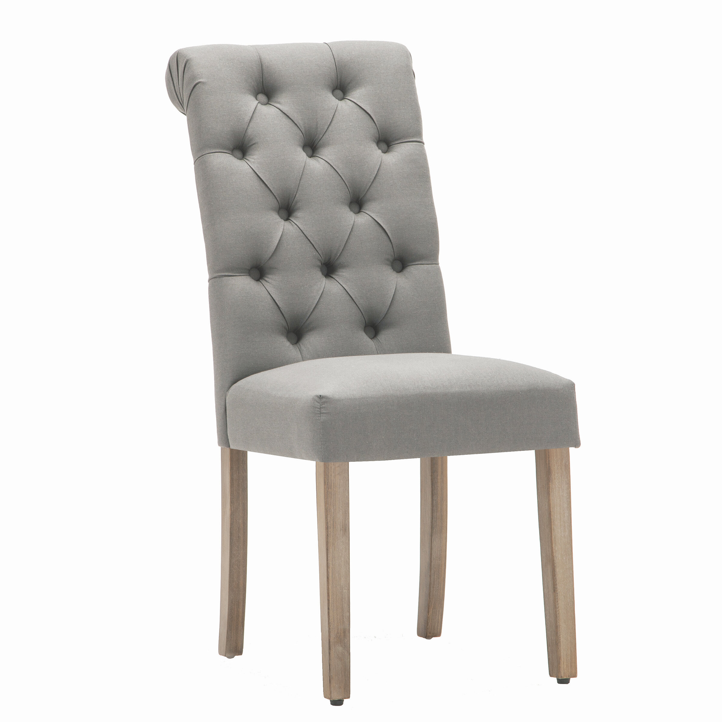 Ansonia roll top tufted modern upholstered dining chair reviews joss main