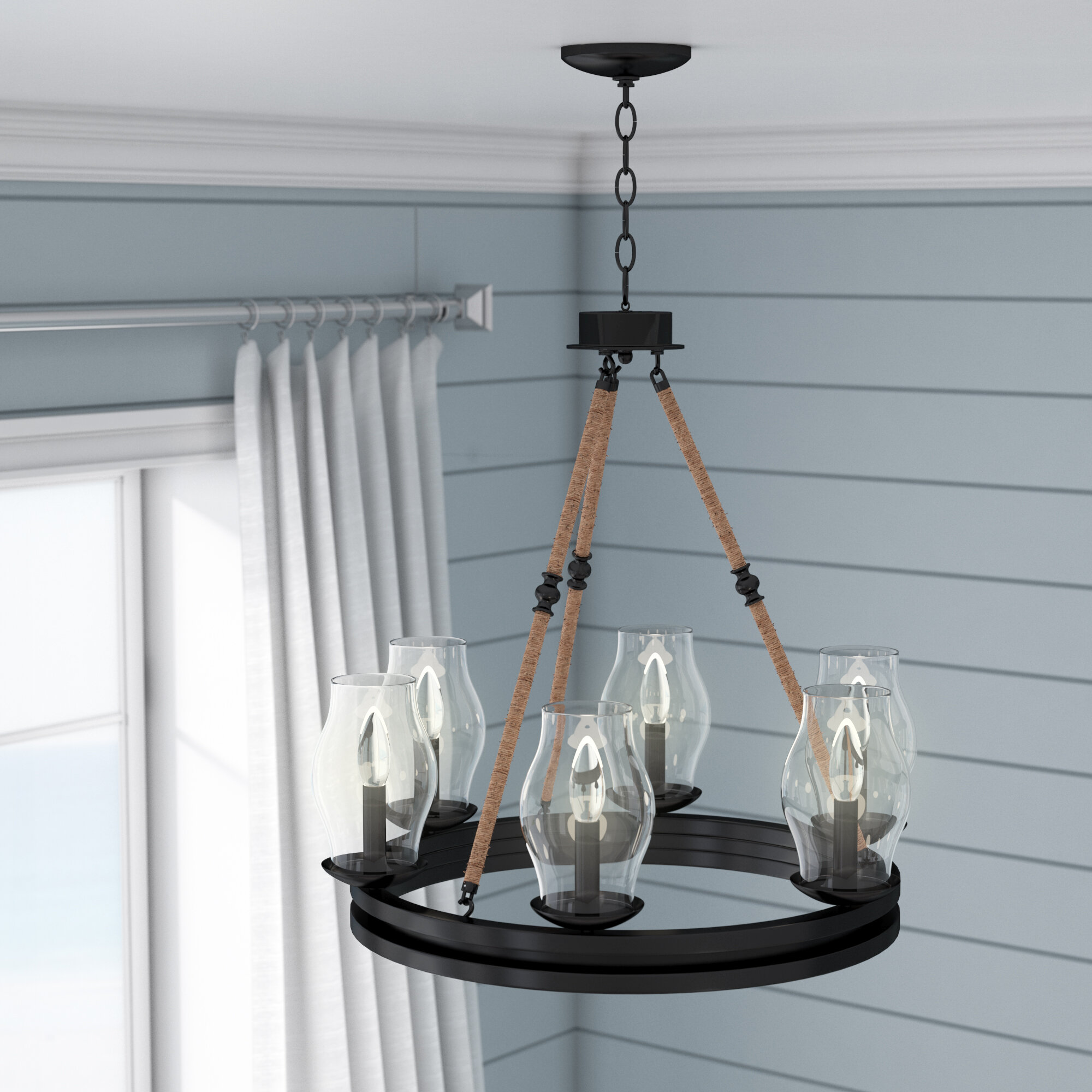 Beachcrest Home Cobham 6-Light Candle-Style Chandelier & Reviews ...