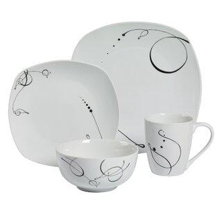 Pescara 16 Piece Dinnerware Set Service for 4  sc 1 st  Wayfair & Novelty Dinnerware Sets You\u0027ll Love   Wayfair