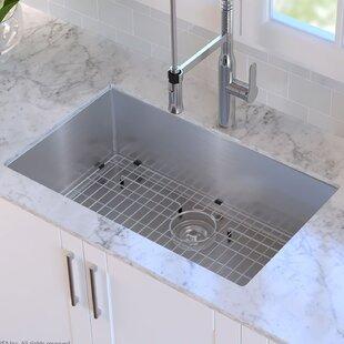 Kitchen sinks modern contemporary designs allmodern 30 x 18 undermount kitchen sink workwithnaturefo