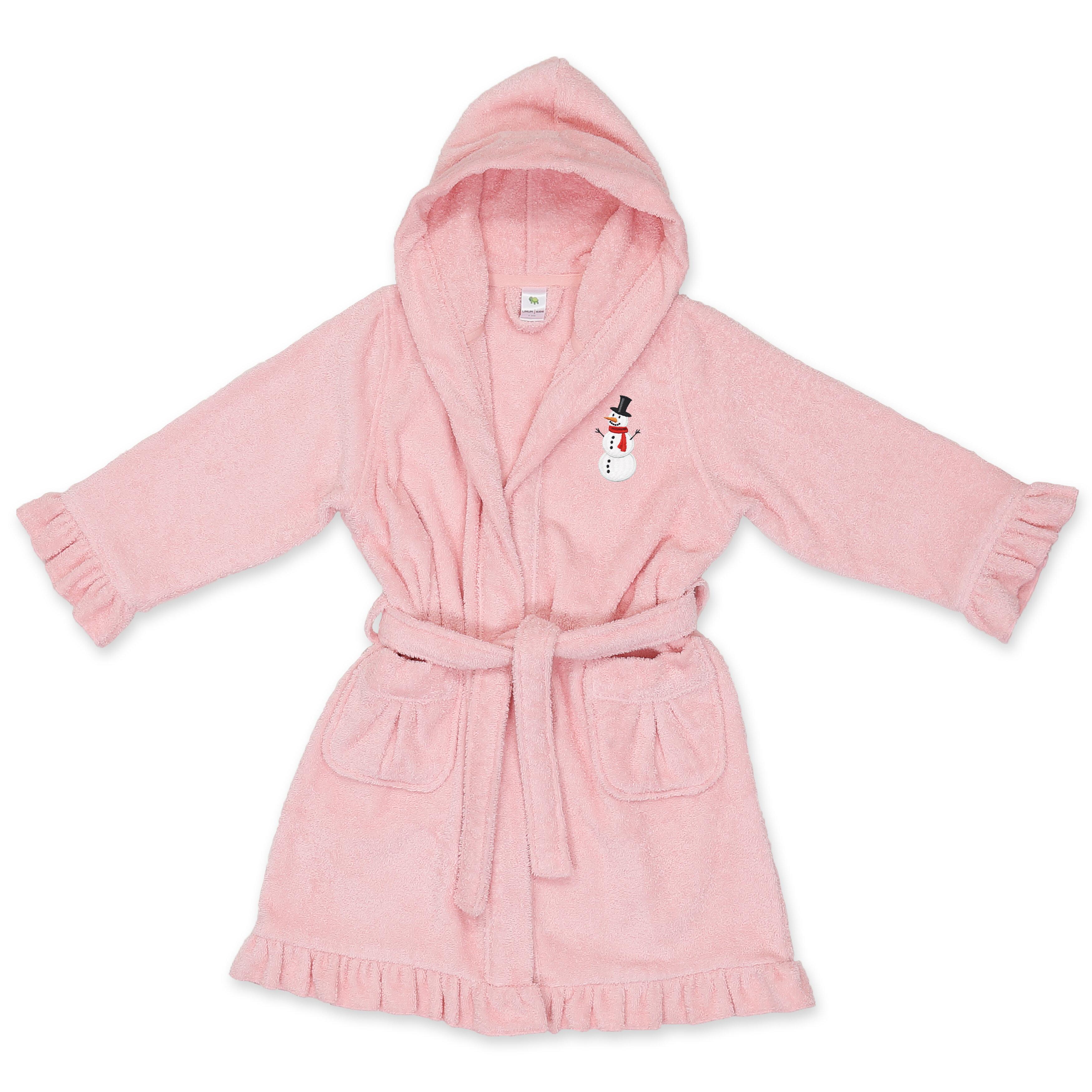 7fe3b5403c Harriet Bee Astin Snowman Design Kids 100% Turkish Cotton Terry Cloth  Bathrobe
