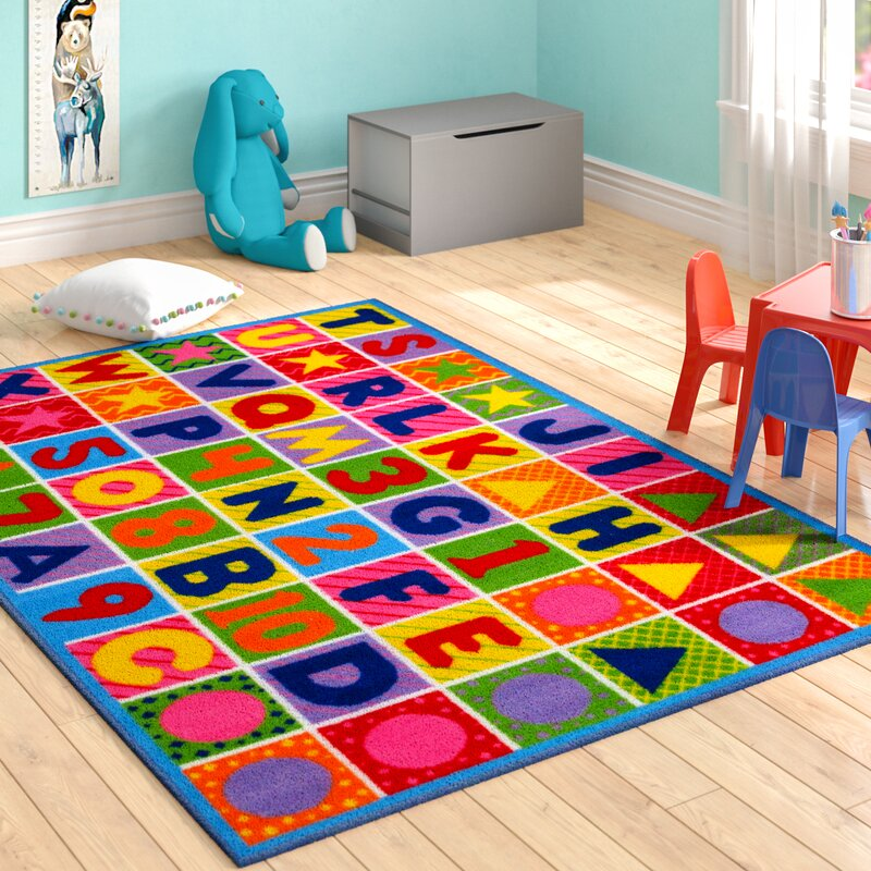 Zoomie Kids Fornax Numbers And Letters Kids Area Rug