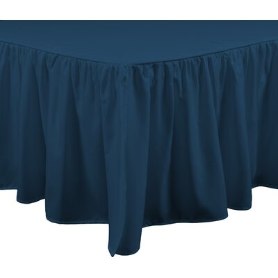 Brielle Stream 15 Bed Skirt Color: Teal, Size: Full