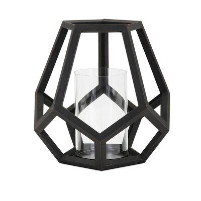 Brayden Studio Wood Lantern Size: 12.75 H x 11 W x 11 D