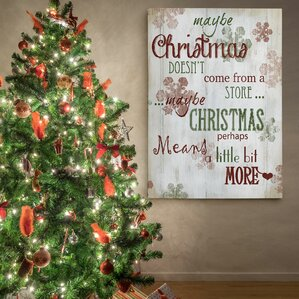 'Christmas Means More Type' Photographic Print on Wrapped Canvas. '