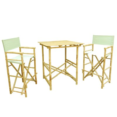 Buyers Choice Phat Tommy 3 Piece Bar Height Dining Set  Color: Kiwi