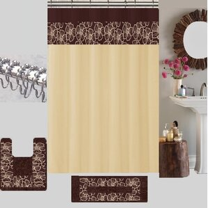 maroon shower curtain set. Berlin Shower Curtain Set Nature  Floral Curtains You ll Love Wayfair
