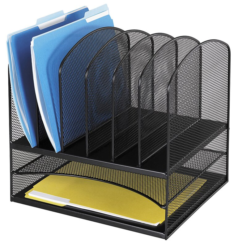 Mesh 2 Shelf Desk Organiser