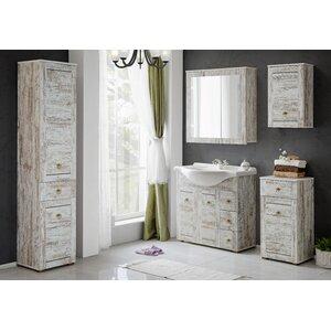Belfry Bathroom 65 cm Waschtisch Prowansja mit Spiegel, Armatur und Schränken