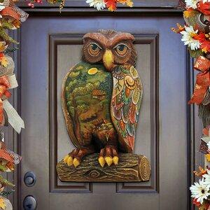 Woodsy Night Owl Wooden Decorative Door Hanger