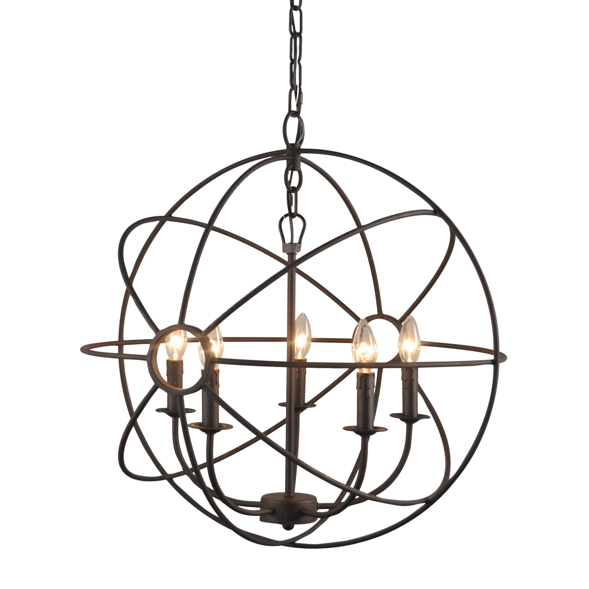 e Allium Way Padilla 5 Light Candle Style Chandelier & Reviews