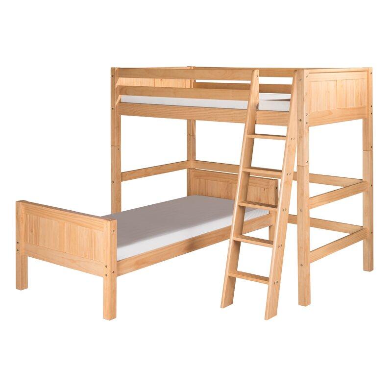 Harriet Bee Oakwood Traditional Twin Over Twin L Shape Bunk Bed