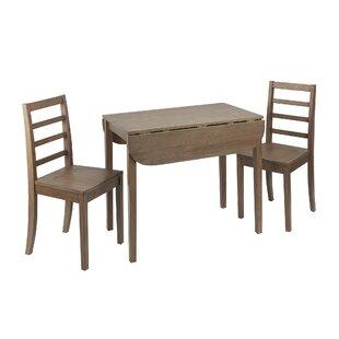 Henrik 3 Piece Drop Leaf Breakfast Nook Dining Set