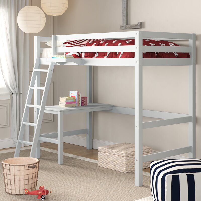 Birch Lane Heritage Annuziata Twin Study Loft Bed With Hanging