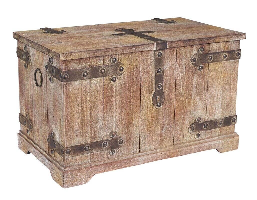 household essentials large victorian storage trunk reviews wayfair. Black Bedroom Furniture Sets. Home Design Ideas