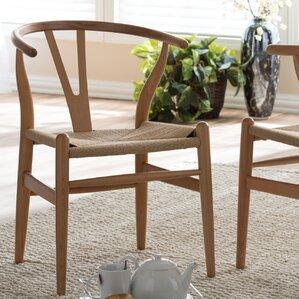 baxton studio wishbone solid wood dining chair