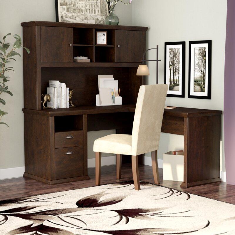 Ferrell L Shape Corner Desk With Hutch