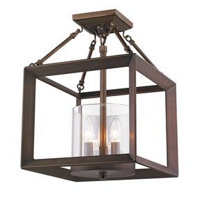 Ginsberg 3-Light Semi Flush Mount