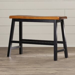 Benton Harbor Wood Kitchen Bench by Alcott Hill
